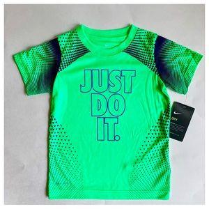 Nike Dri-Fit Green Boys Tee/Sz:4/NWT